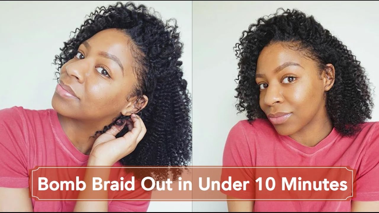 Bomb Braid Out In Under 10 Minutes For Transitioning Hair Tkeyah