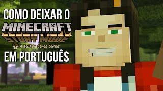 Como deixar o Minecraft Story Mode em Português