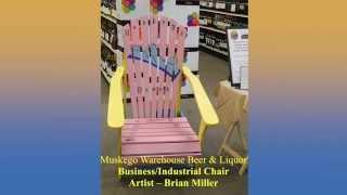 Muskego Warehouse Beer & Liquor Sponsor Artful Adirondack Chair