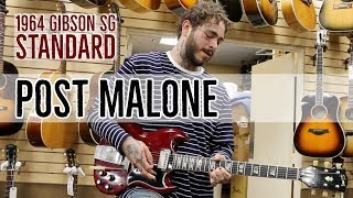 Post Malone | More Scenes with his 1964 Gibson SG Standard at Norman's Rare Guitars