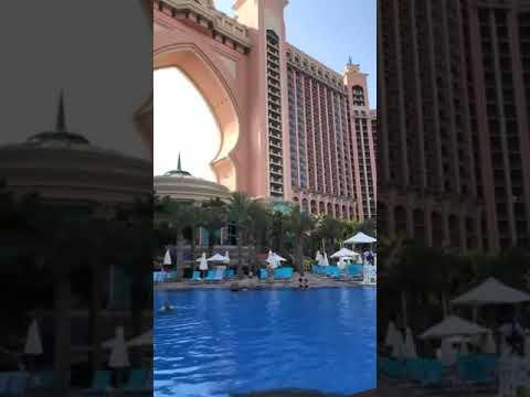 Enjoying White Beach Dubai Atlantis Hotel
