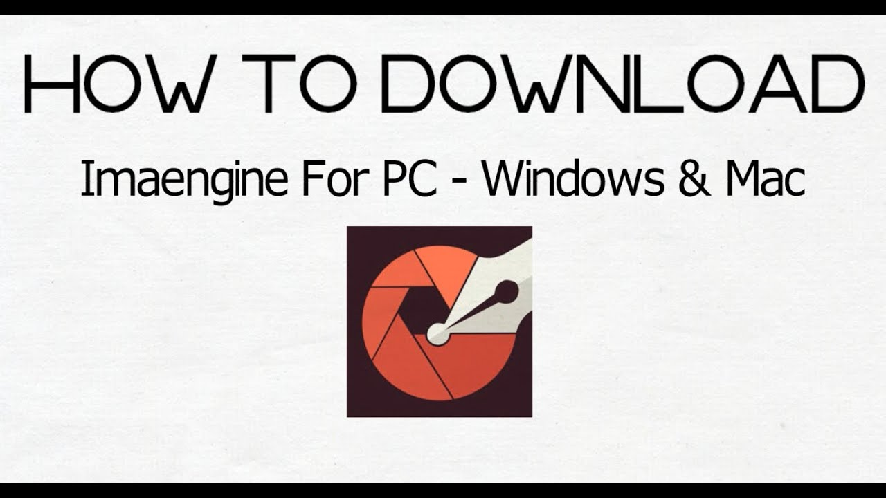 How To Download Imaengine For Pc Windows 10 8 7 Mac Youtube