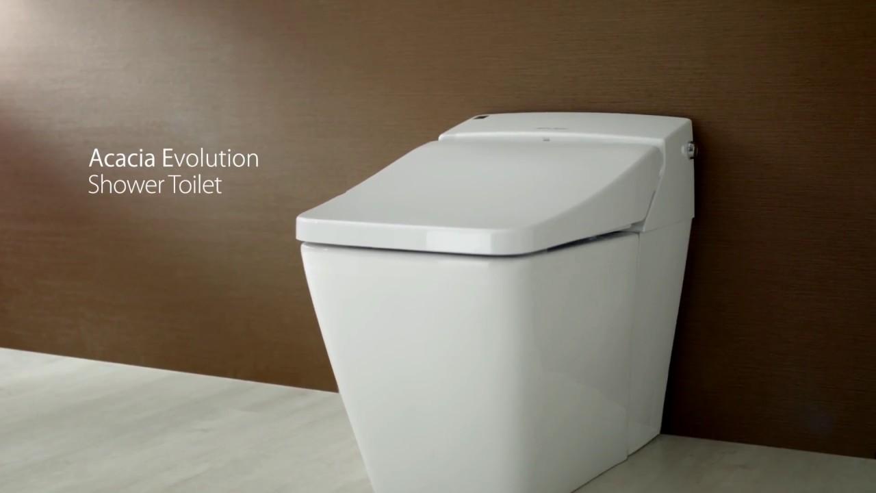 American Standard Acacia Evolution Shower Toilet - YouTube
