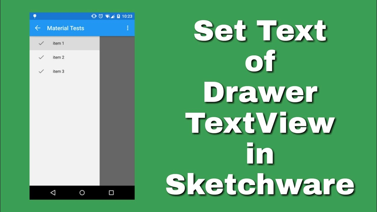 Apply setText to drawer TextView