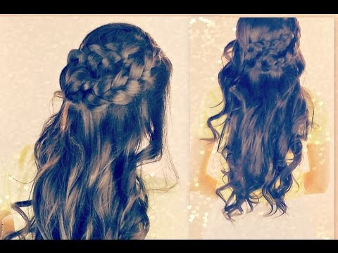 HAIRSTYLES: UP UPDOS FOR SCHOOL WITH CURLS HAIR TUTORIAL