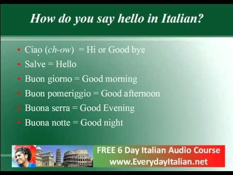 How to say hello are you in italian