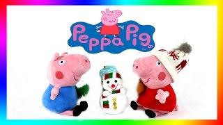 ✿ Свинка Пеппа - ☃ Строим Снеговика  (Peppa Pig) Скоро Новый Год!