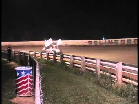 Selinsgrove Speedway 358 Sprint Car Highlights 7-09-11
