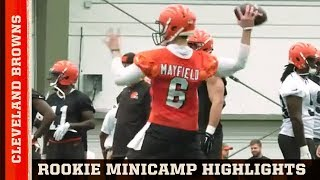 Highlights of Browns Rookie Camp with Baker Mayfield, Antonio Callaway & More | 2 Minute Drill