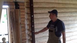 видео как штукатурить стены в деревянном доме