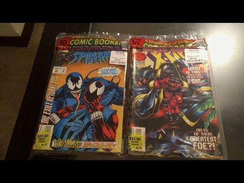 Comic Book Value Packs Unbagging 1