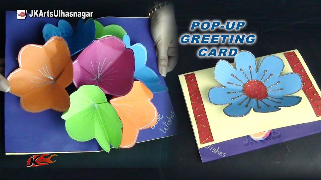 How to make a bouquet flower pop up card for mothers day and how to make a bouquet flower pop up card for mothers day and teachers day jk arts 832 youtube m4hsunfo Image collections
