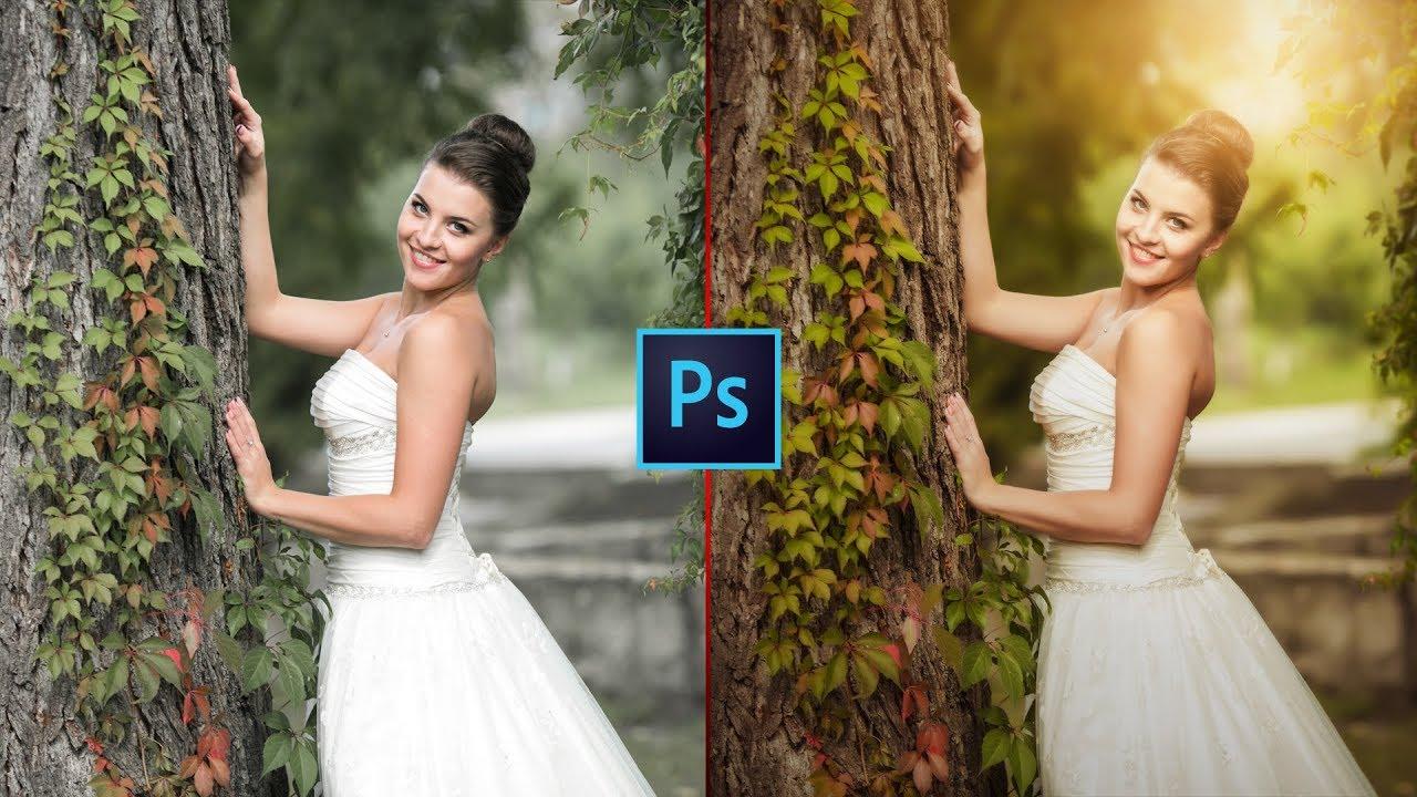 Photoshop CC Tutorial: Wedding Photo Edit : CAMERA RAW Filter