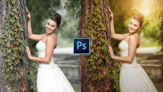 Photoshop CC Tutorial: Wedding Photo Edit : CAMERA RAW Filter