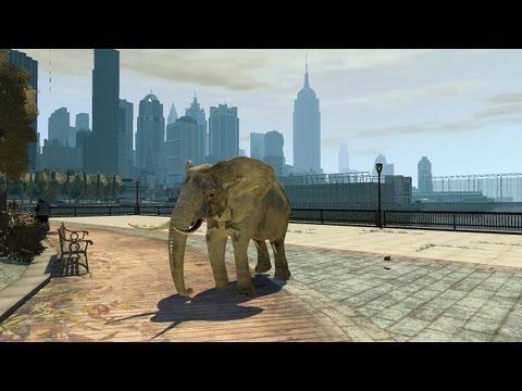 Grand Theft Auto IV - Elephant (MOD) HD
