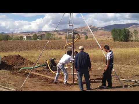 gümüşhane el ile su sondajı water well drilling
