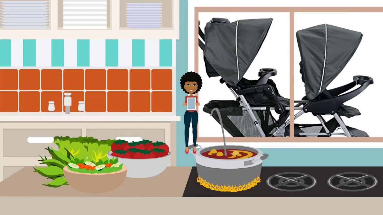 Double Stroller For Infant And Toddler.