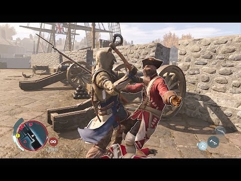 Sly Gameplay - Assassin's Creed 3 Remastered -  Connor's Incredible Fighting Moves & Epic Action
