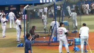 2009年5月12日、横浜VS巨人戦 試合前バッティング練習(横浜ス...