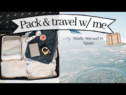 spain study abroad: my crazy travel experience to Europe + pack with me