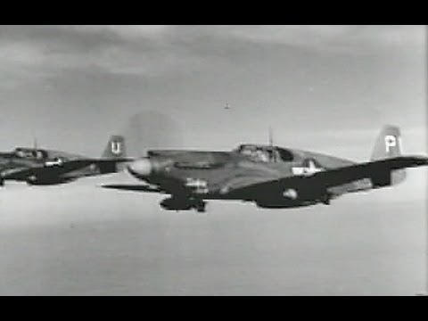 USAAF A-36 Apache dive bombers attack near Rome -1944- Restored