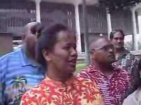 Palaces Grounds OCCUPATION by KANAKA MAOLI, Mahealani A.Kahau