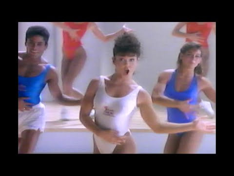 Fitness Funny 80's Aerobic exercise Champion Video