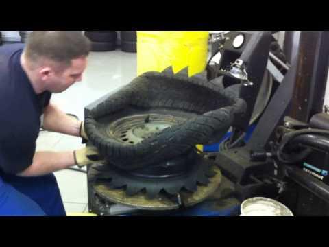 как сделать клумбу из шины