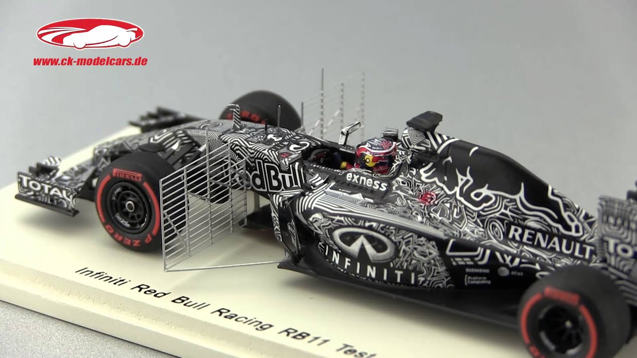 Red Bull Rb11 Ck Modelcars Video Daniil Kvyat Red Bull Rb11 26 Test Car Bahrain Formel 1 2015 Spark