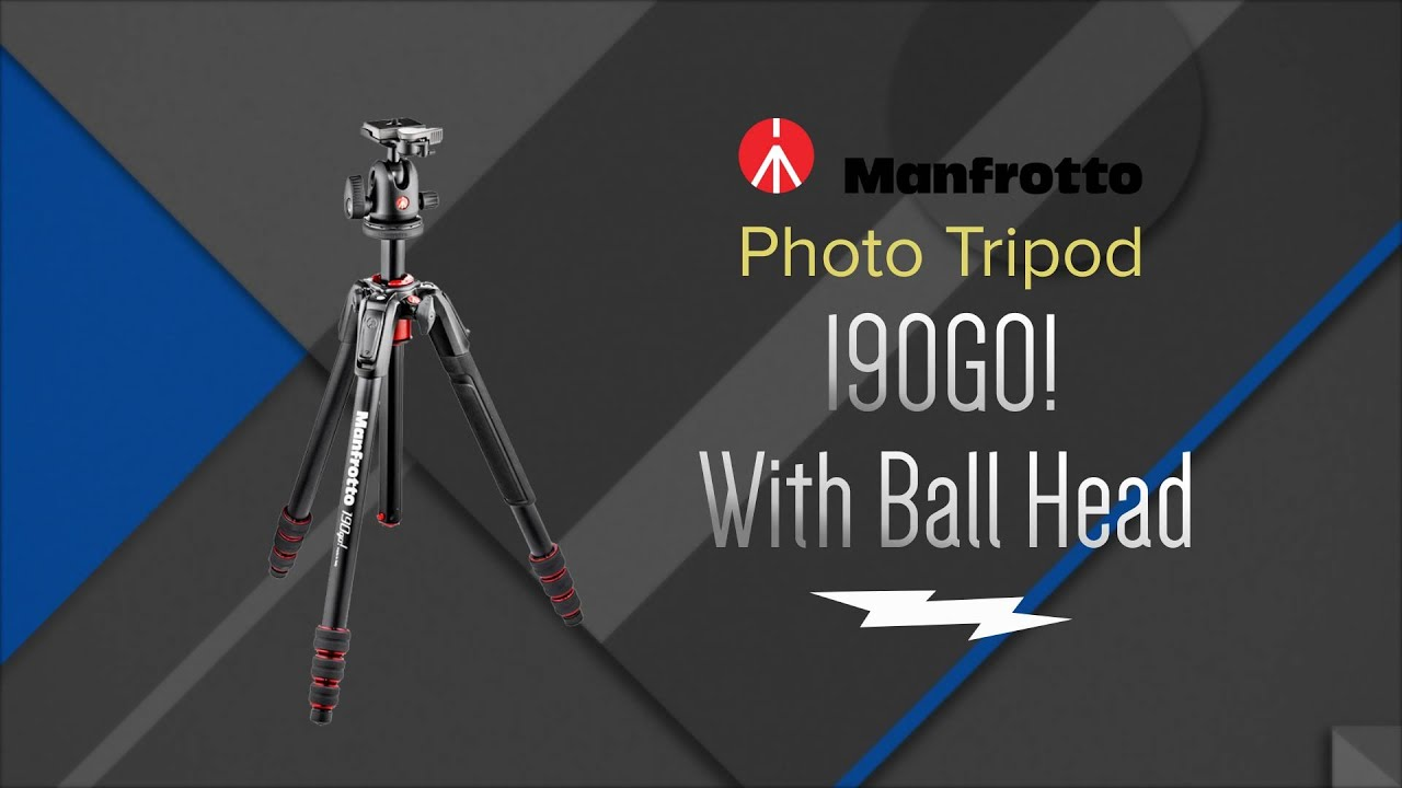 Manfrotto 190 Go Aluminium 4-Section Camera Tripod with Twist Locks