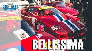 Breakfast with Ferrari's F40GT and F40LM at Goodwood