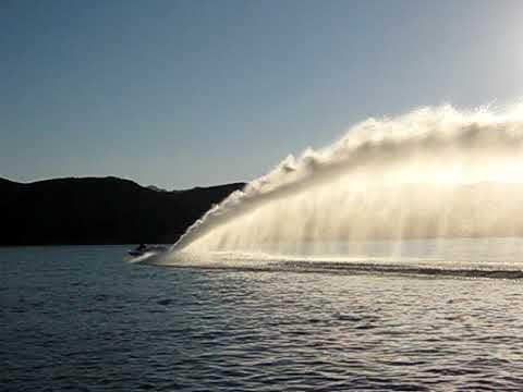 Small Jet Boats >> Jet Boat Rooster Tail at Havasu Sandbar - YouTube