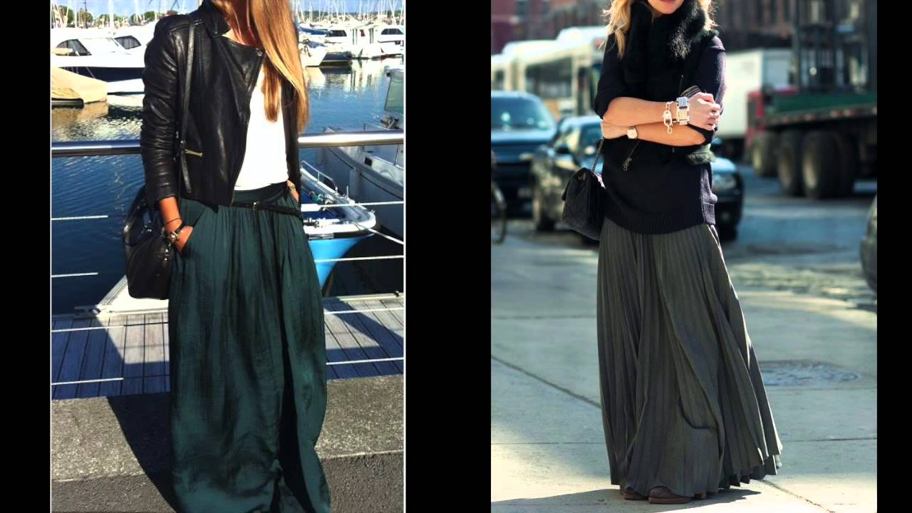 d77689589 faldas de moda para otoño 2015  faldas largas y cortas - YouTube