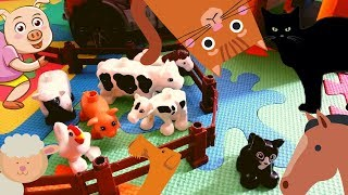 Развивающее Видео с Животными Для Детей  #1 | Домашние Животные Для Детей Учим Животных