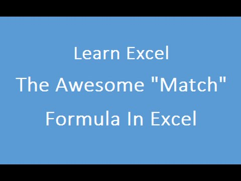 Match Formula in Excel - Approximate and Excat Match 3rd variation