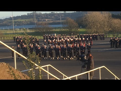 Cunningham 17 Passing Out Parade December 1st 2017 at HMS Raleigh