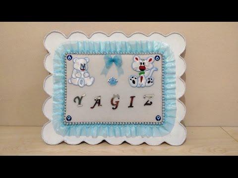Baby Room Decoration, Baby Shower, Wall Hanging, DIY - Bebek Kapı Süsü Yapımı, Kendin Yap