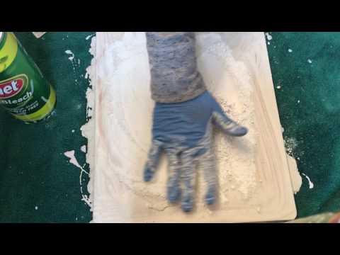 Lemon Comet+Wood Board Scrubbing!