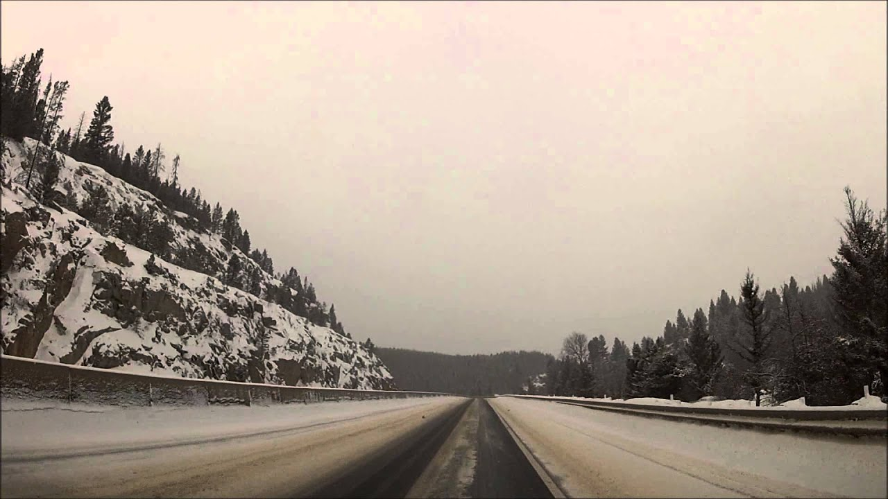Homestake Pass in winter ~ I-90 west (Pipestone to Butte, Montana) 2-22-14