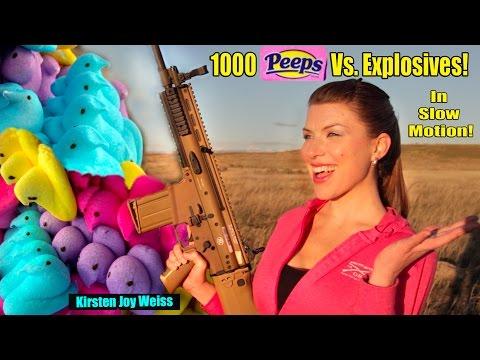 Blowing up 1000 Peeps!?  EXPLOSIVES vs. Marshmallows - Slow Motion & FN SCAR   Peep Mayhem ep. 4