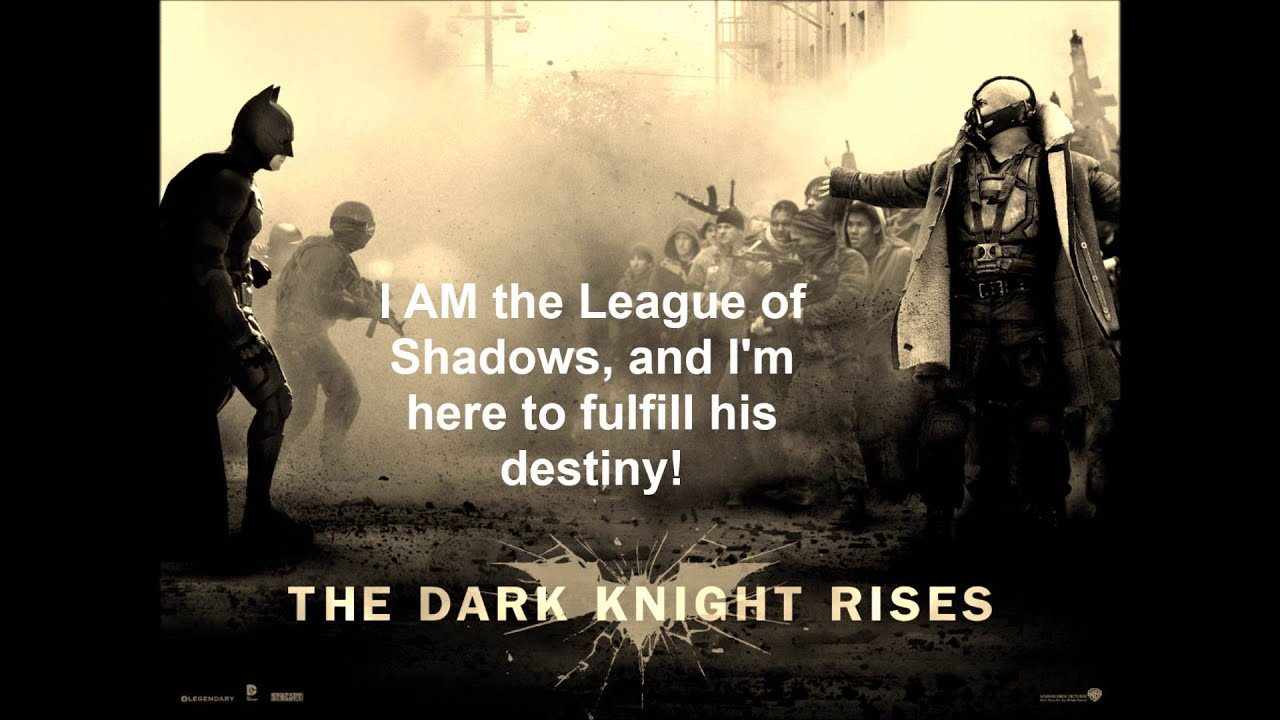 The Dark Knight Quotes: The Dark Knight Rises Bane Quotes By Samuel Williams.wmv