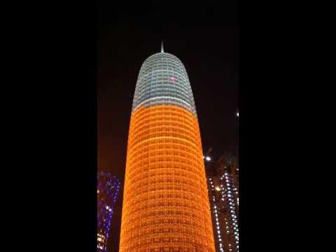Orange tower in Doha