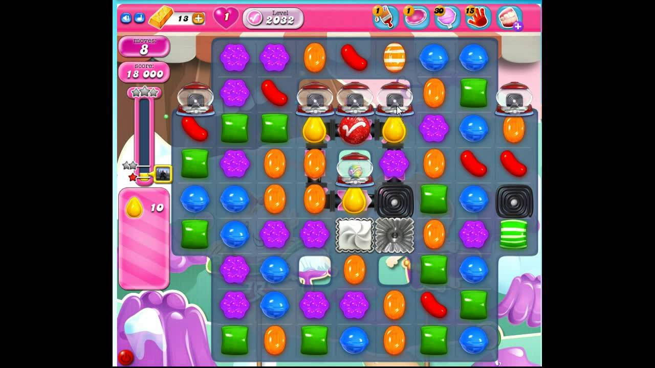 how to solve candy crush level 2032