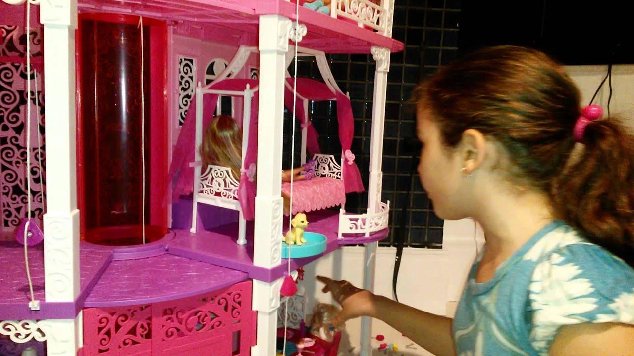 Minha casa da barbie que ganhei de natal youtube - Casa de barbie ...