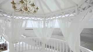Желто-фиолетовая свадьба, декор и выездная роспись Marina Gabbana event group