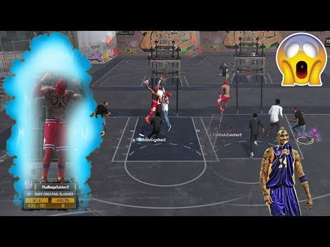 INSANE DOUBLE CONTACT DUNK!! KING OF ALL SLASHERS! DUNKING ON TWO PEOPLE! NBA2K18 MyPARK