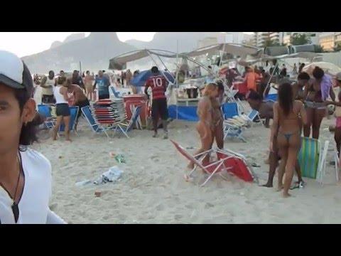 Ipanema beach, a sunday in Rio de Janeiro, Brazil