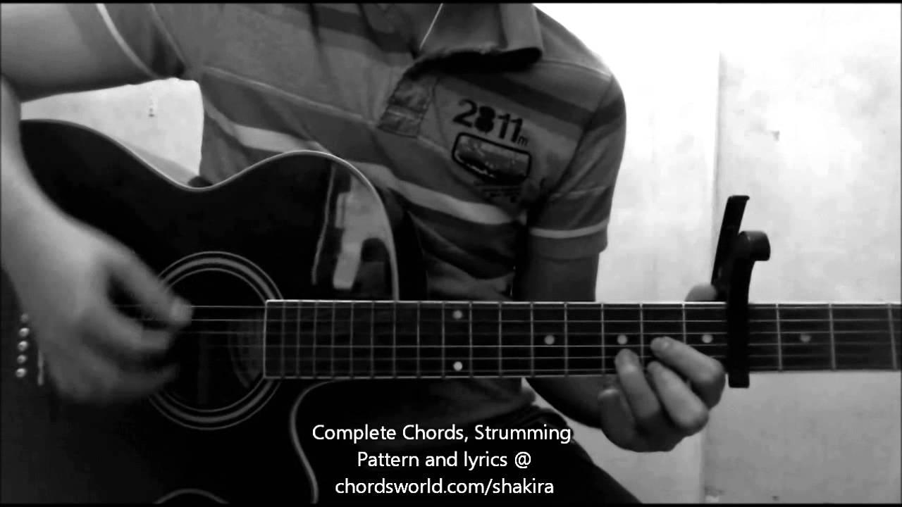 Dare La La La Chords By Shakira How To Play Chordsworld