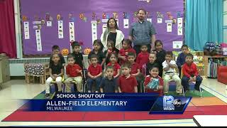Good morning from students at allen-field elementary!subscribe to wisn on for more: http://bit.ly/1eme5yxget more milwaukee news: http://www.wisn.com...