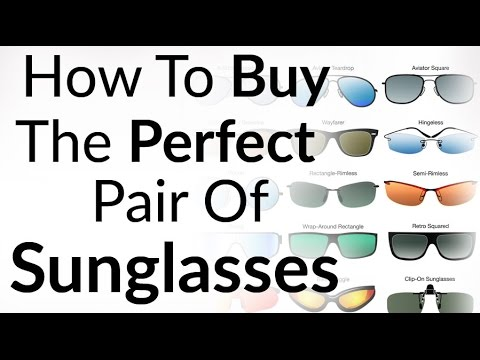 7af407caa12e Perfect Sunglasses For Face Shape | How To Buy Right Shades | Aviator  Wayfarer Sun Glass Styles - YouTube